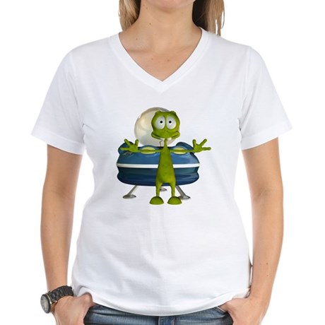 Al Alien Women's V-Neck T-Shirt