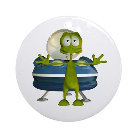 Al Alien Ornament (Round)