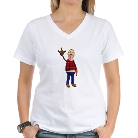 Barney Women's V-Neck T-Shirt