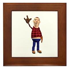 Barney Framed Tile