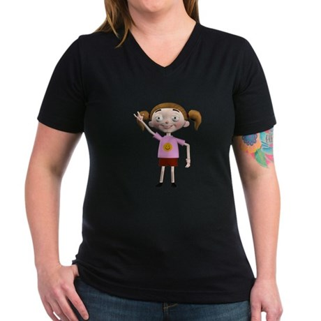 Dee Dee Women's V-Neck Dark T-Shirt