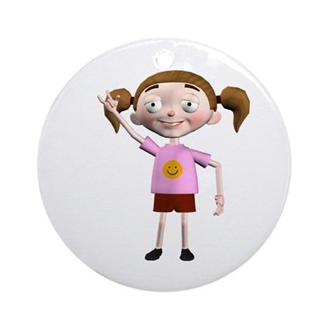 Dee Dee Ornament (Round)