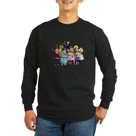 Family Portrait Long Sleeve Dark T-Shirt