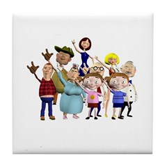 Family Portrait Tile Coaster