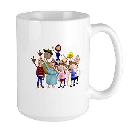 Family Portrait Large Mug