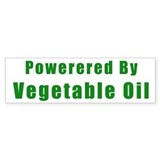Powered by Vegetable Oil Bumper Car Sticker