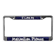 Funky Love Maximilian Pionus License Plate Frame