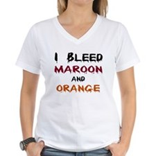 I Bleed Maroon and Orange Shirt