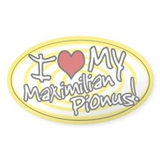 Hypno I Love My Maxi Pionus Oval Sticker Ylw