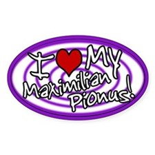 Hypno I Love My Maxi Pionus Oval Sticker Purp