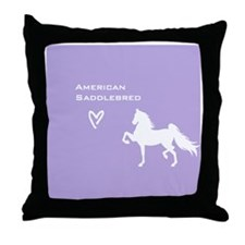 American Saddlebred Throw Pillow