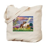 Cloud Angel &amp; Amstaff Tote Bag