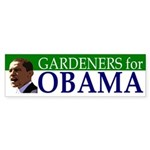 Gardeners for Obama (bumper sticker)