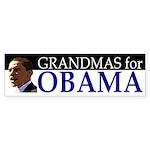 Grandmas for Obama bumper sticker
