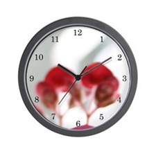 """White and Red"" Wall Clock"