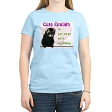 Cute Enough Ferret Women's Pink T-Shirt