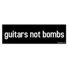 guitars not bombs Bumper Bumper Sticker