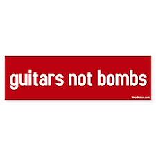 guitars not bombs Bumper Bumper Stickers