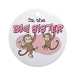 Big Sister (Monkey) Ornament (Round)
