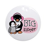 Big Sister Penguin Ornament (Round)