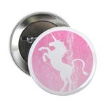 Retro Pink Unicorn Button