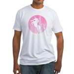 Retro Pink Unicorn Fitted T-Shirt