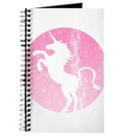 Retro Pink Unicorn Journal