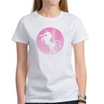 Retro Pink Unicorn Women's T-Shirt