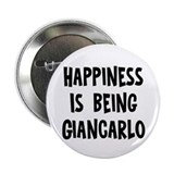 "Happiness is being Giancarlo 2.25"" Button (10 pac"