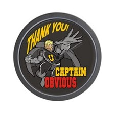 Flying Captain Obvious Wall Clock