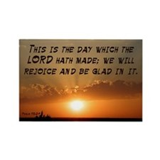 Psalm 118:24 Rectangle Magnet