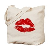 Lipstick Kiss Tote Bag