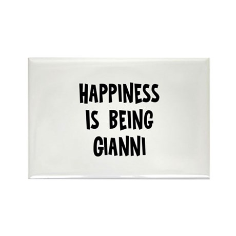 Happiness is being Gianni Rectangle Magnet