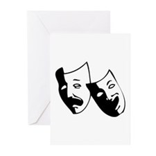 Drama Masks Greeting Cards (Pk of 10)