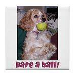 Mocha Have a Ball! Tile Coaster