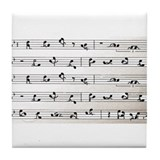 Kama Sutra Music Notes Tile Coaster