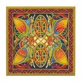 Celtic Peacocks Tile Coaster