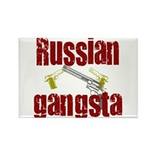 Russian Gangsta Rectangle Magnet