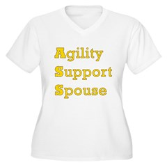 Agility Support Spouse Women's Plus Size V-Neck T-