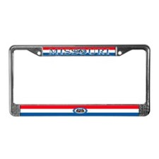 Missouri Blank Flag License Plate Frame