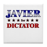 JAVIER for dictator Tile Coaster