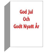 God Jul Och Godt Nyatt År Greeting Card