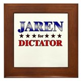 JAREN for dictator Framed Tile