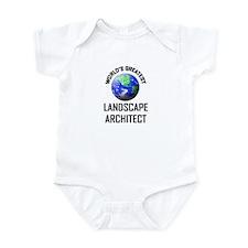World's Greatest LANDSCAPE ARCHITECT Infant Bodysu