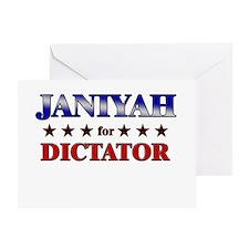 JANIYAH for dictator Greeting Card