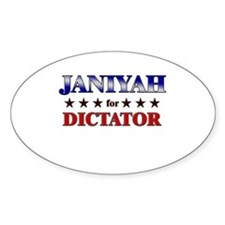 JANIYAH for dictator Oval Decal