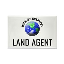 World's Greatest LAND AGENT Rectangle Magnet