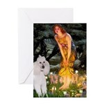 Fairies / Std Poodle(w) Greeting Card