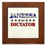 JANESSA for dictator Framed Tile