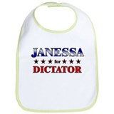 JANESSA for dictator Bib